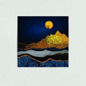 "Textured Mountains Art Print Poster 12"" x 12"" Wall Art NA1301"