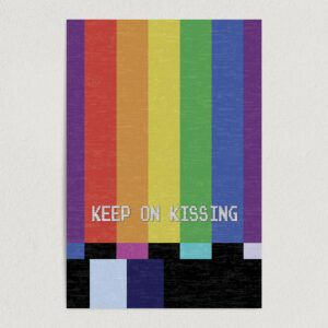 "Keep On Kissing Vintage TV Art Print Poster 12"" x 18"" Wall Art A3100"