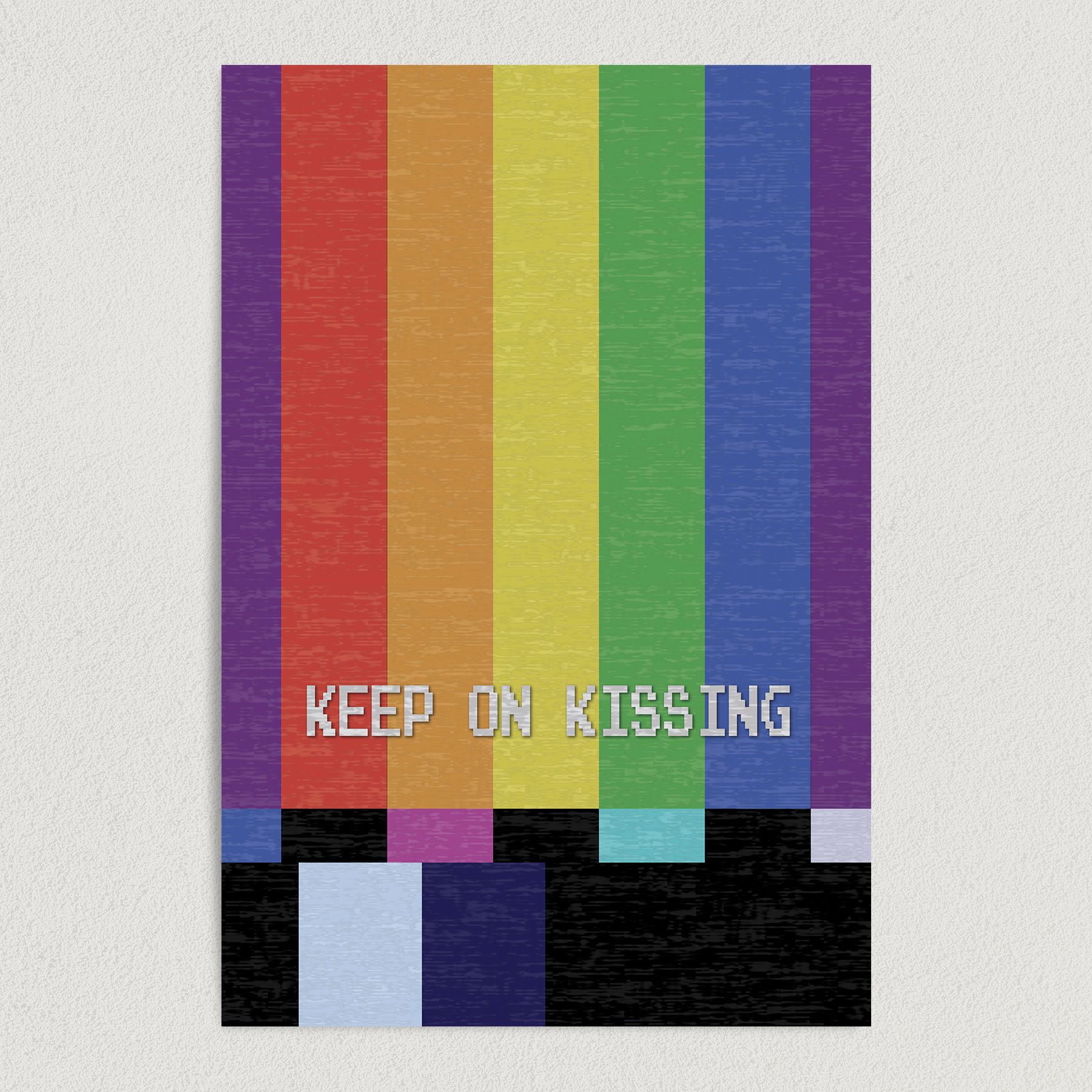 Keep On Kissing Vintage TV Art Print Poster 12″ x 18″ Wall Art A3100