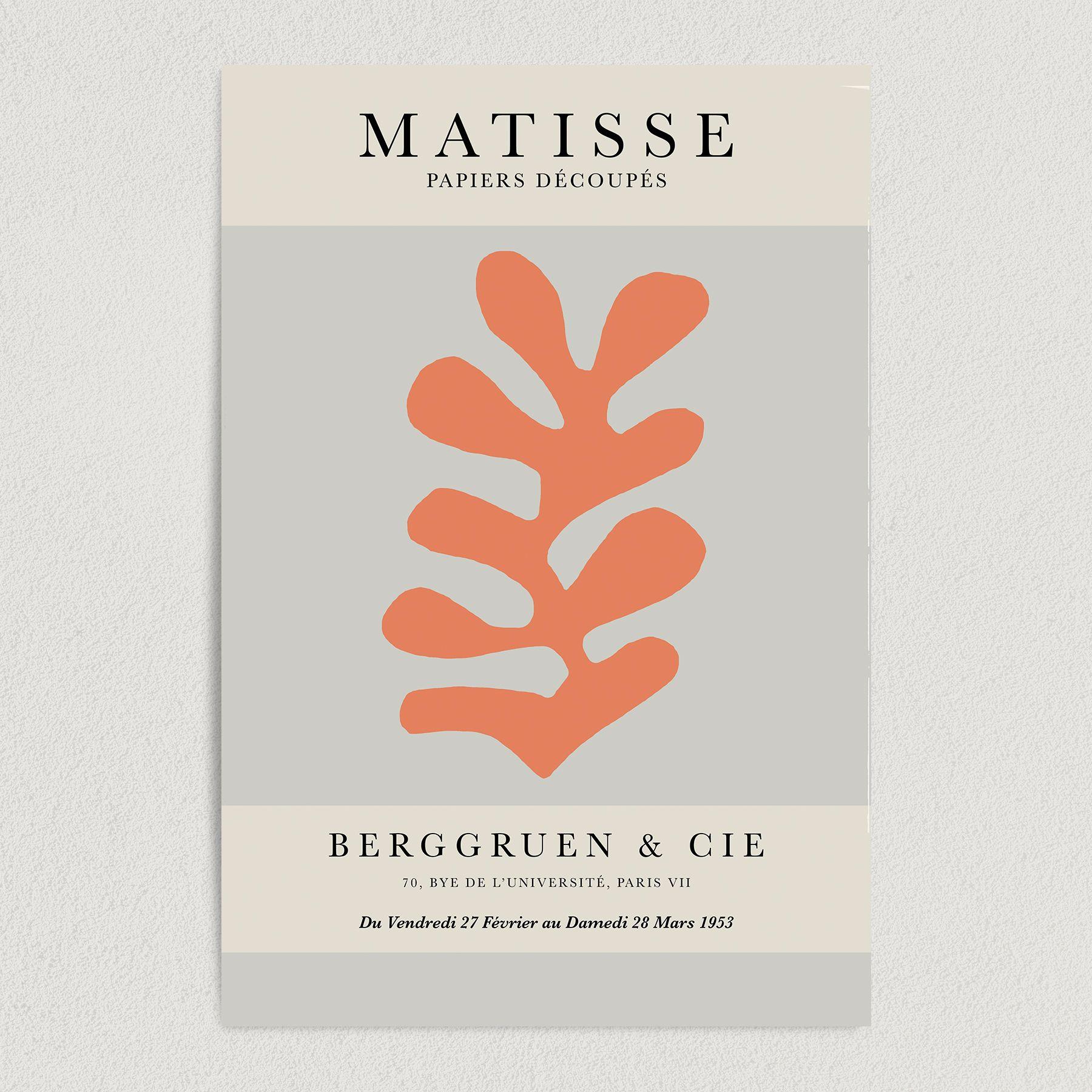 Henri Matisse Papiers Découpés Berggruen & Cie Modern Art Print Poster 12″ x 18″ Wall Art AA2133