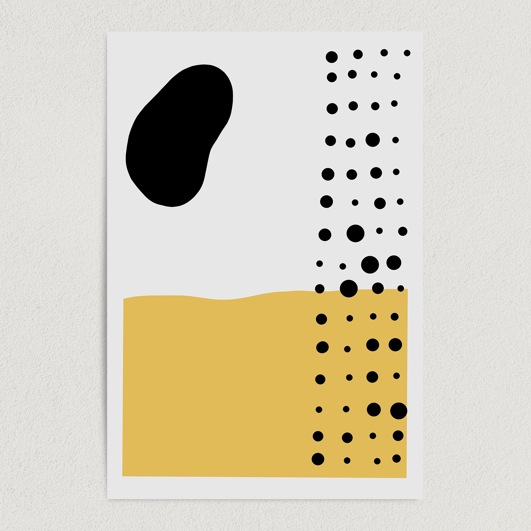 Abstract Blotchy Dotted Pattern Art Print Poster 12″ x 18″ Wall Art AB2203