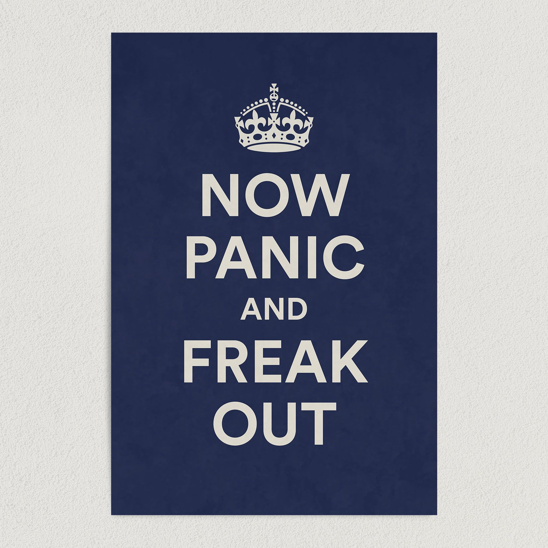 Now Panic and Freak Out Art Print Poster 12″ x 18″ Wall Art AH3185