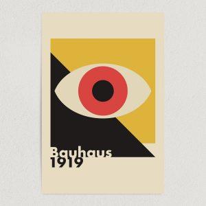 """Bauhaus Eye Art Print Poster 12"""" x 18"""" Wall Art AI3343"""