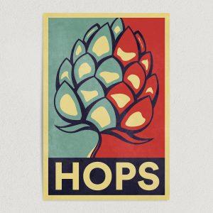 "Hops for Beer Campaign Art Print Poster 12"" x 18"" Wall Art AL1101"