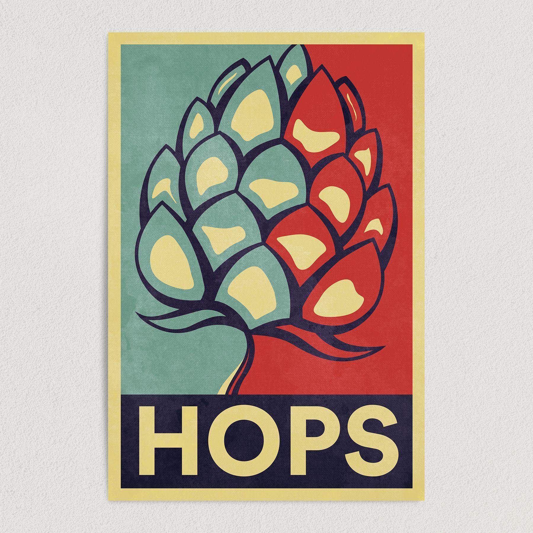 Hops for Beer Campaign Art Print Poster 12″ x 18″ Wall Art AL1101