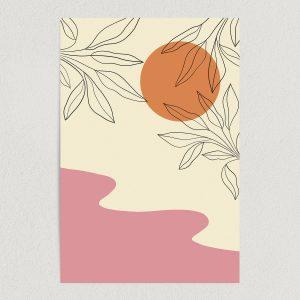 "Blooming Pink River Art Print Poster 12"" x 18"" Wall Art AN1123"