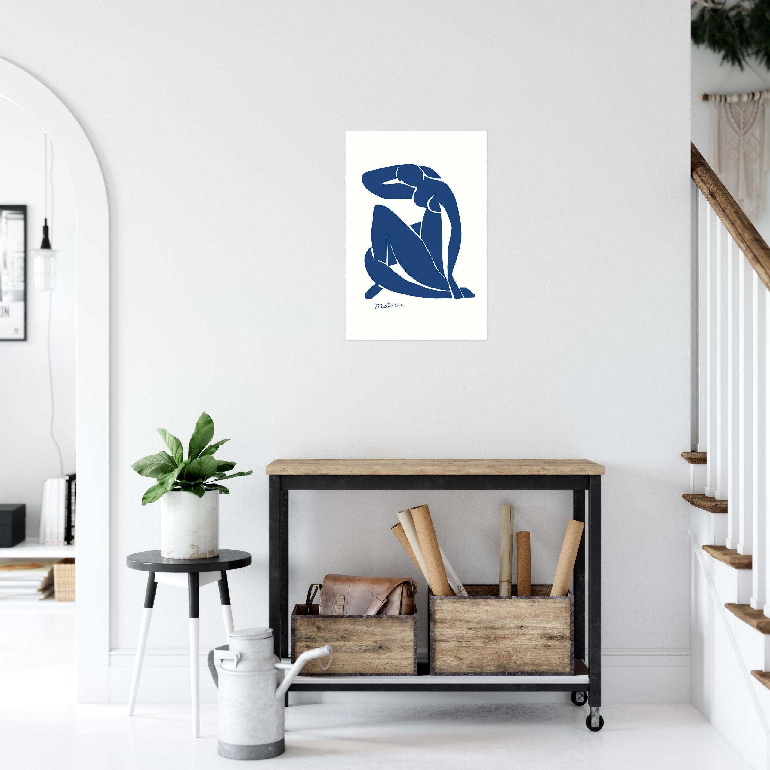 """Henri Matisse Blue Nude Art Print Poster 12"""" x 18"""" Wall Art AR1119"""