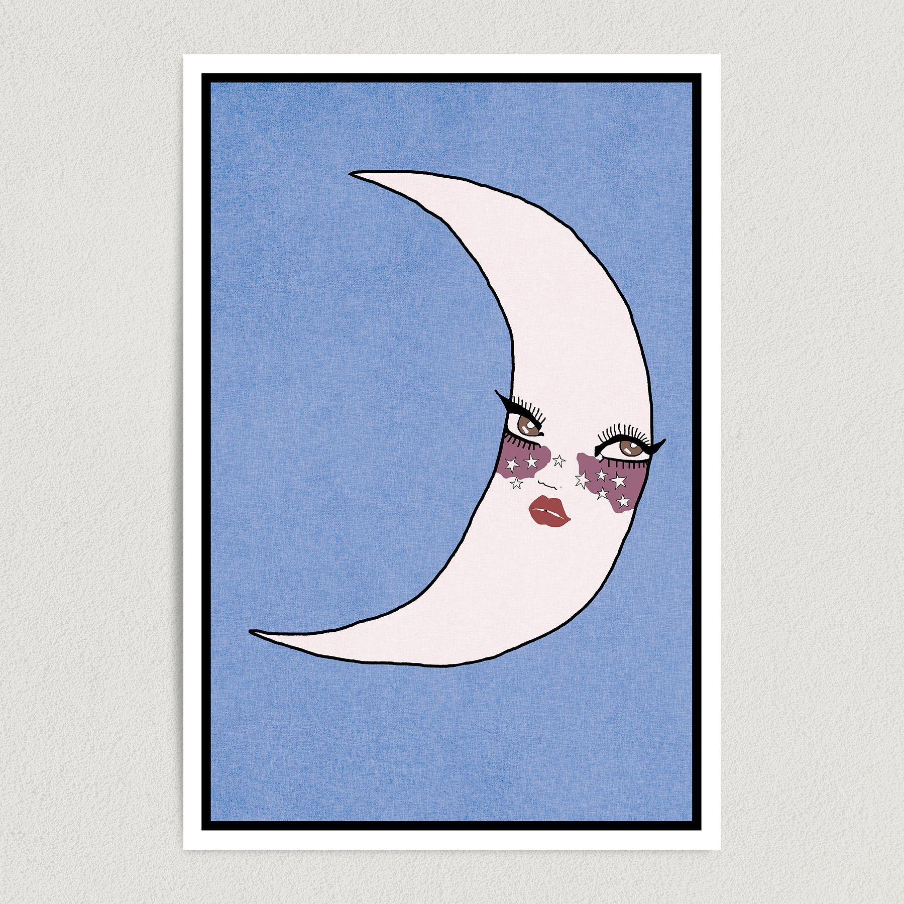 La Luna Art Print Poster 12″ X 18″ Wall Art AA1601