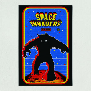 "Space Invaders Retro Arcade Art Print Poster 12"" x 18"" Wall Art AV1107"