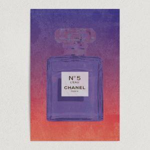 "Chanel No5 Fragrance Art Print Poster 12"" x 18"" Wall Art BF1000"