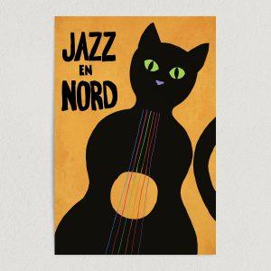 "Jazz En Nord Festival France Art Print Poster 12"" x 18"" Wall Art CA2202"
