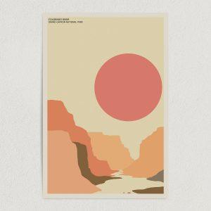 "Colorado River Grand Canyon National Park Art Print Poster 12"" x 18"" Wall Art NUS1303"