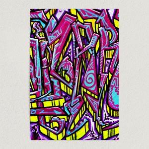 """Urban Street Art Neon Graffiti Art Print Poster 12"""" x 18"""" Wall Art FP3170"""