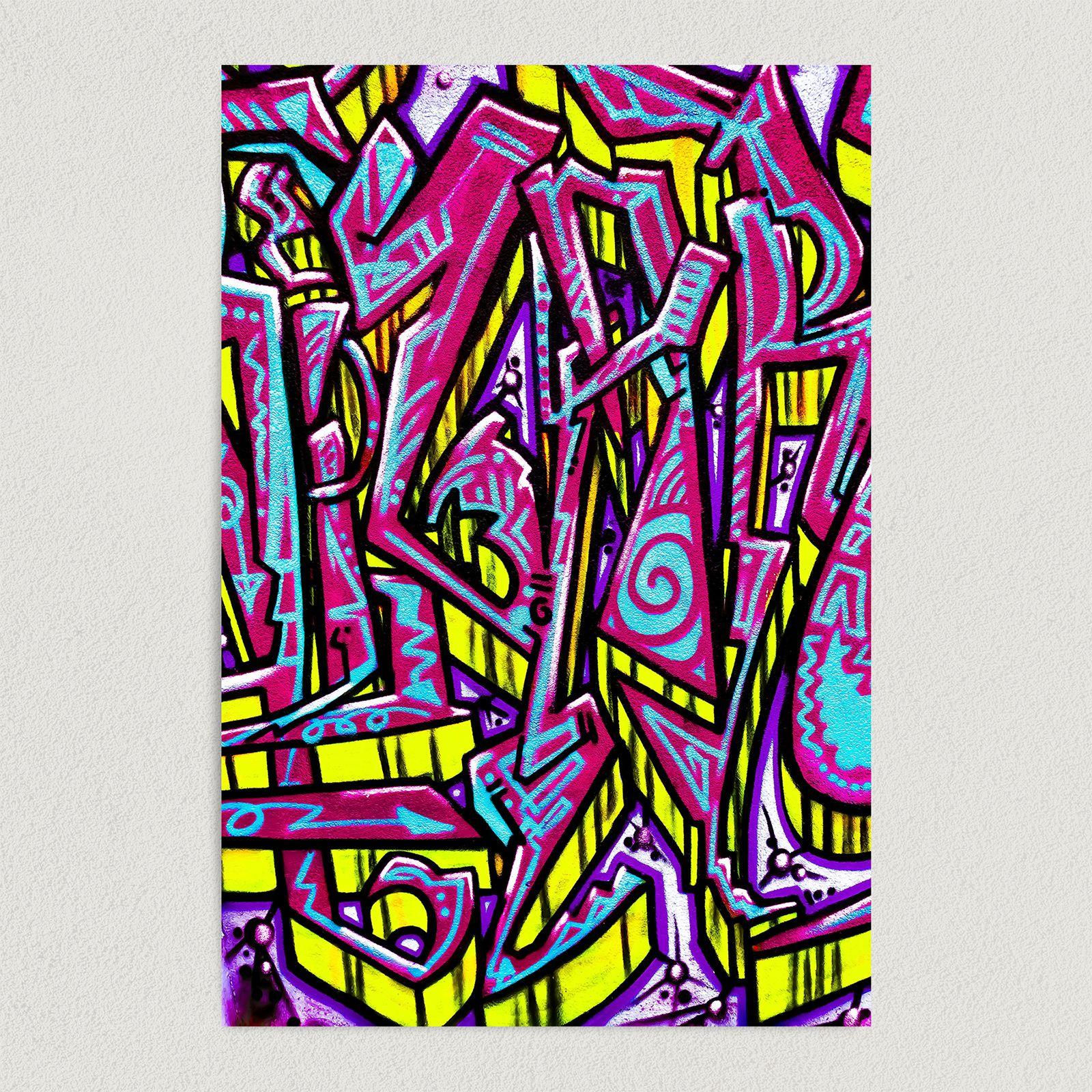 Urban Street Art Neon Graffiti Art Print Poster 12″ x 18″ Wall Art FP3170