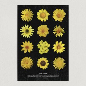 "Yellow Flowers Art Print Poster 12"" x 18"" Wall Art GC3001"