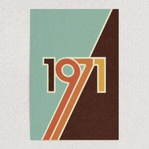 "Vintage 1971 Retro Hippie Art Print Poster 12"" x 18"" Wall Art H1165"
