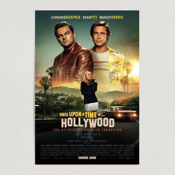 """Once Upon A Time In Hollywood Movie Art Print Poster 12"""" x 18"""" Wall Art HM2304"""