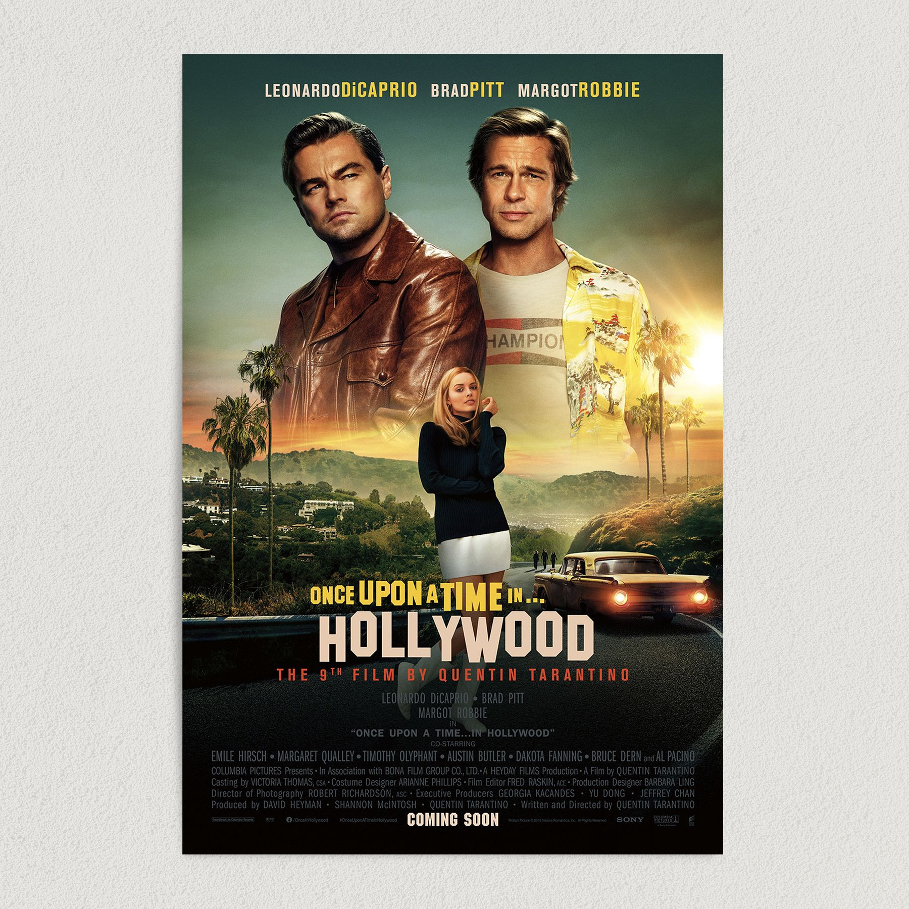 Once Upon A Time In Hollywood Movie Art Print Poster 12″ x 18″ Wall Art HM2304