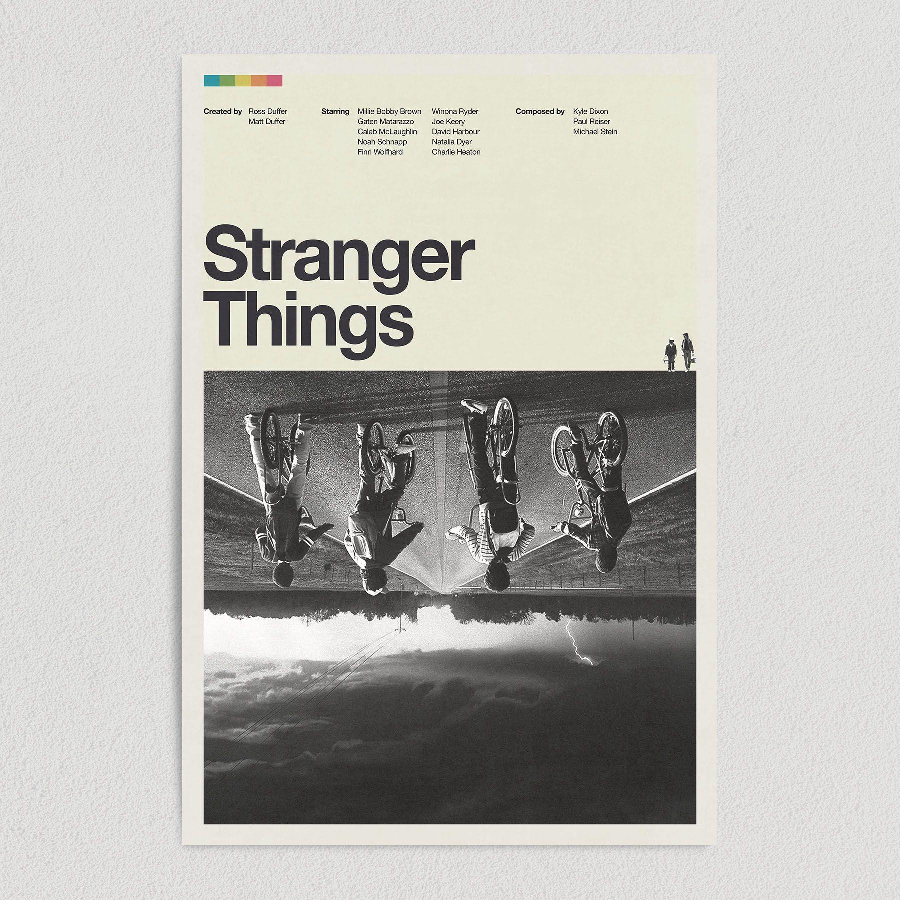 Stranger Things Netflix Original Retro 1980 Art Print Poster 12″ x 18″ M1020