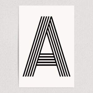 "Letter A Modern Typography Art Print Poster 12"" x 18"" Wall Art M2160"