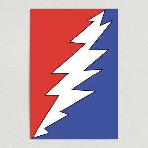 """Grateful Dead Symbol Art Print Poster 12"""" X 18"""" Wall Art MB1001"""