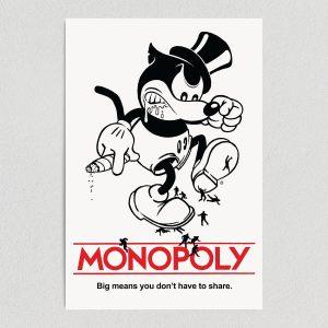 "Mickey Monopoly Art Print Poster 12"" X 18"" Wall Art P1130"