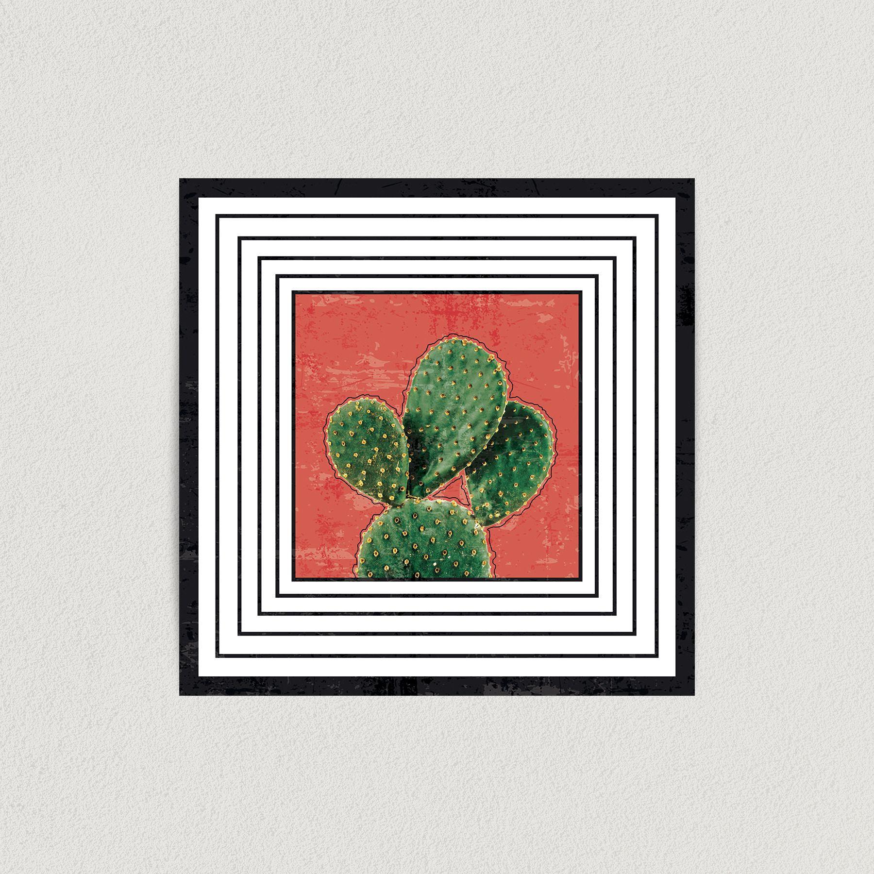 Cactus Surrealism Art Print Poster 12″ x 12″ Wall Art N1066