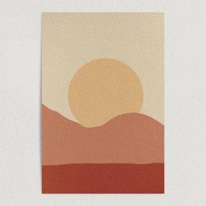 "Dusty Sunset Art Print Poster 12"" x 18"" Wall Art NR1011"