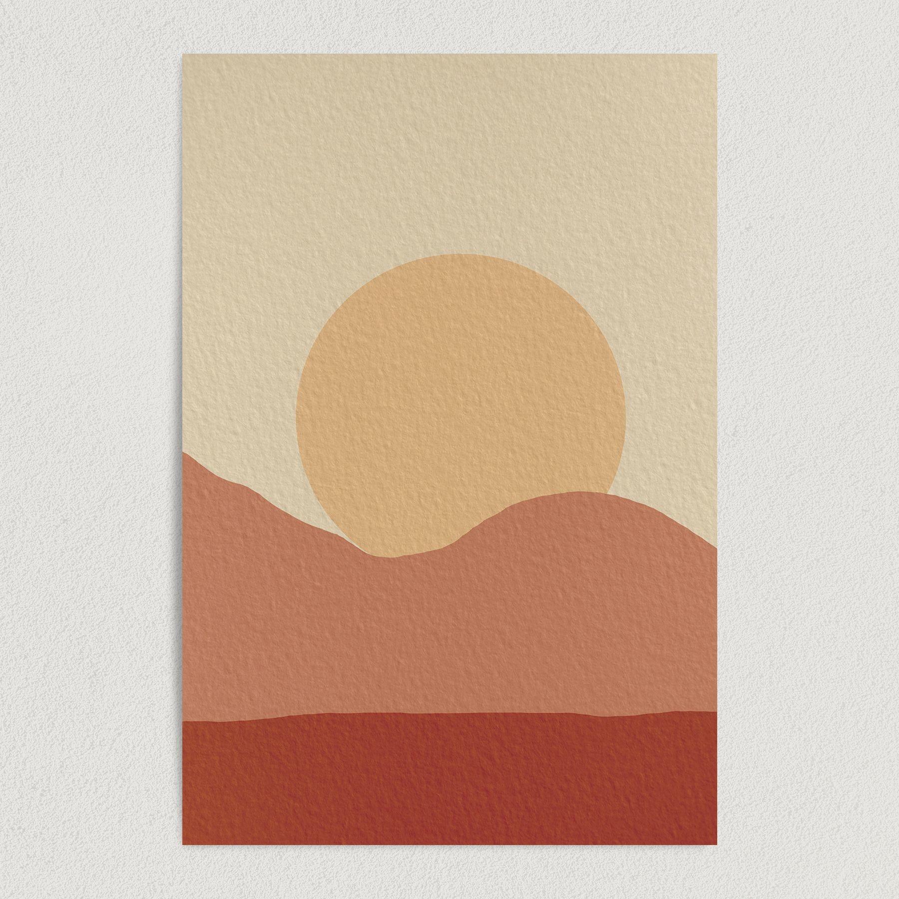 Dusty Sunset Art Print Poster Wall Art NR1011