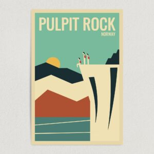"Hike Pulpit The Fjords Norway Art Print Poster 12"" x 18"" Wall Art NT1009"