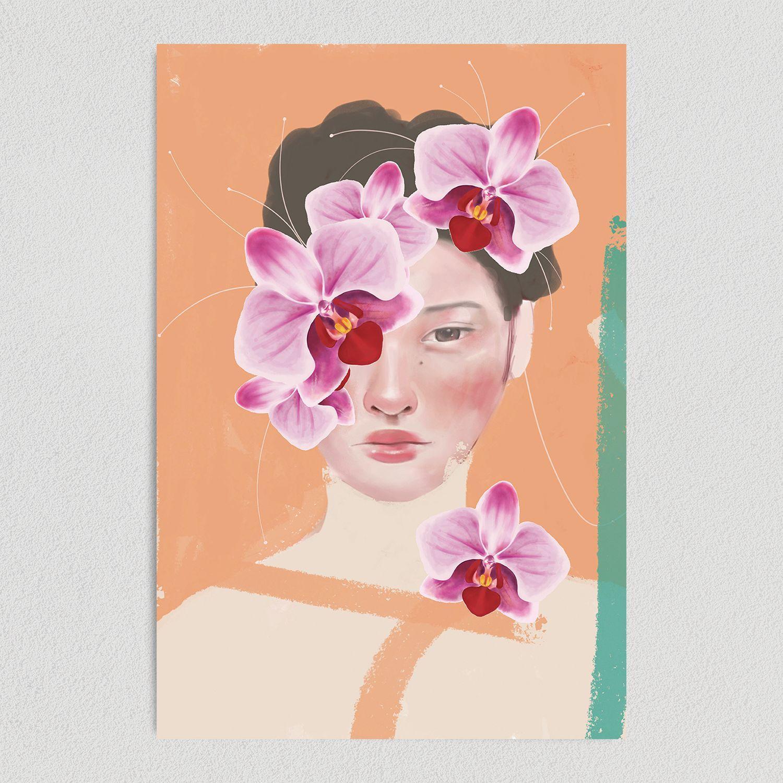 Orchid Beauty Art Print Poster 12″ x 18″ Wall Art IL1160