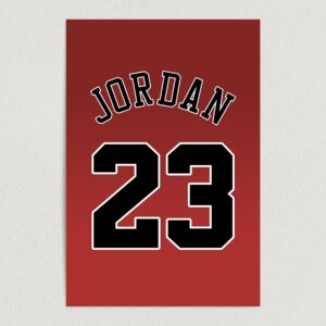 "Number 23 Michael Jordan Chicago Bulls Basketball Art Print Poster 12"" x 18"" Wall Art S2136"