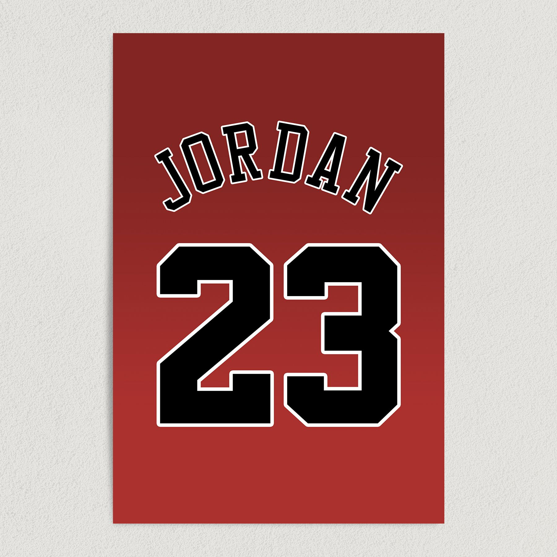 Number 23 Michael Jordan Chicago Bulls Basketball Art Print Poster 12″ x 18″ Wall Art S2136