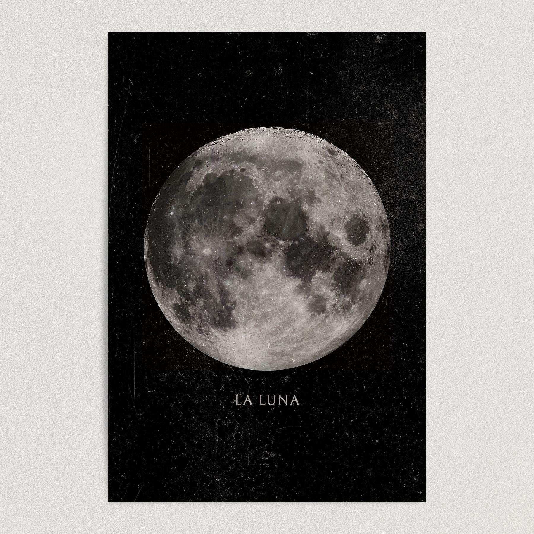 La Luna Art Print Poster 12″ x 18″ Wall Art SA2711