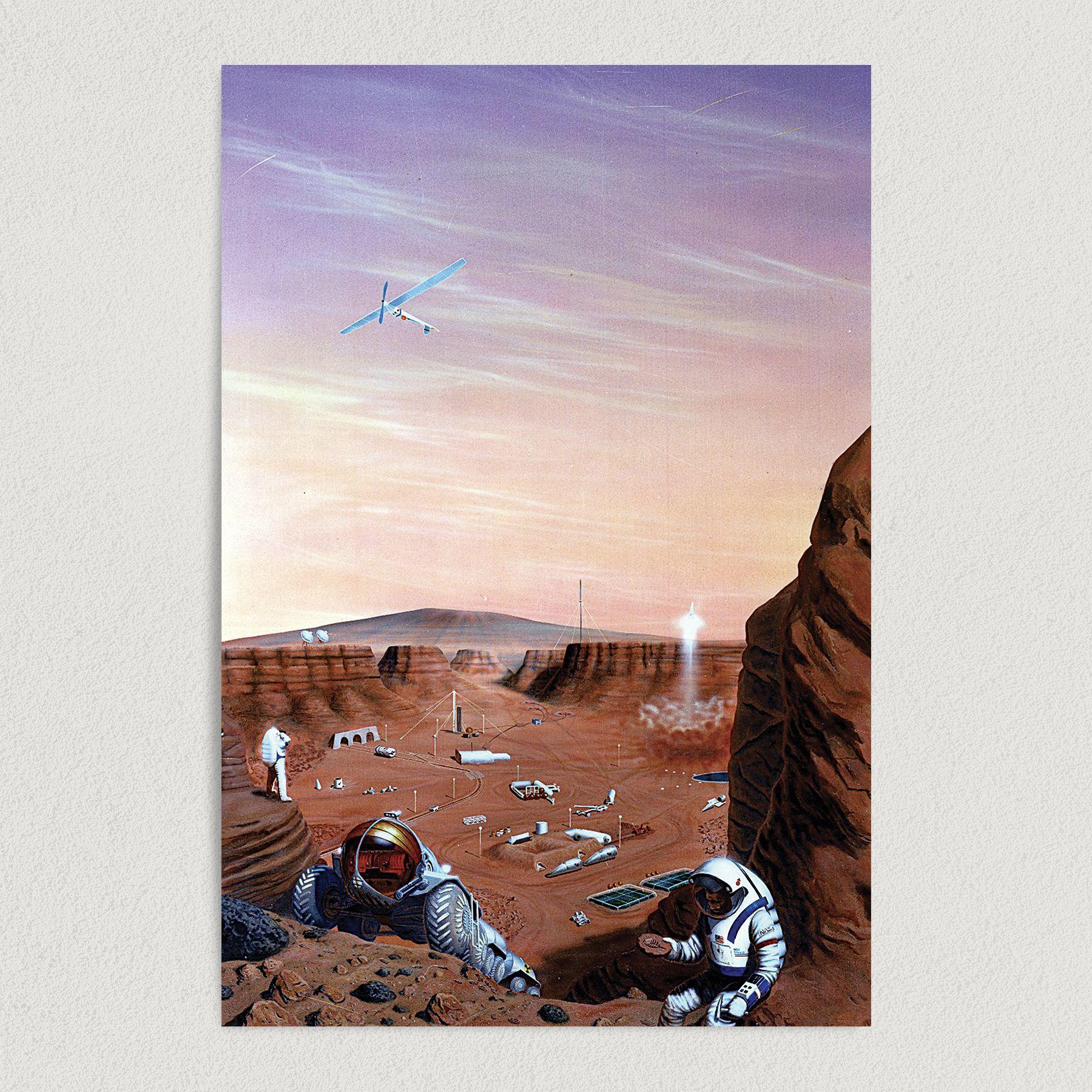 Red Planet NASA Art Print Poster 12″ x 18″ Wall Art SA2713