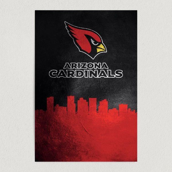 "Arizona Cardinals Skyline Art Print Poster 12"" x 18"" Wall Art SF3401"
