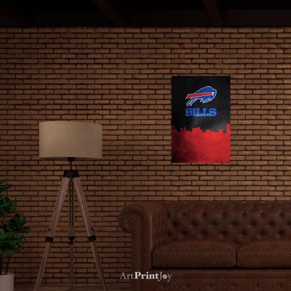 "Buffalo Bills Skyline Art Print Poster 12"" x 18"" Wall Art SF3402"