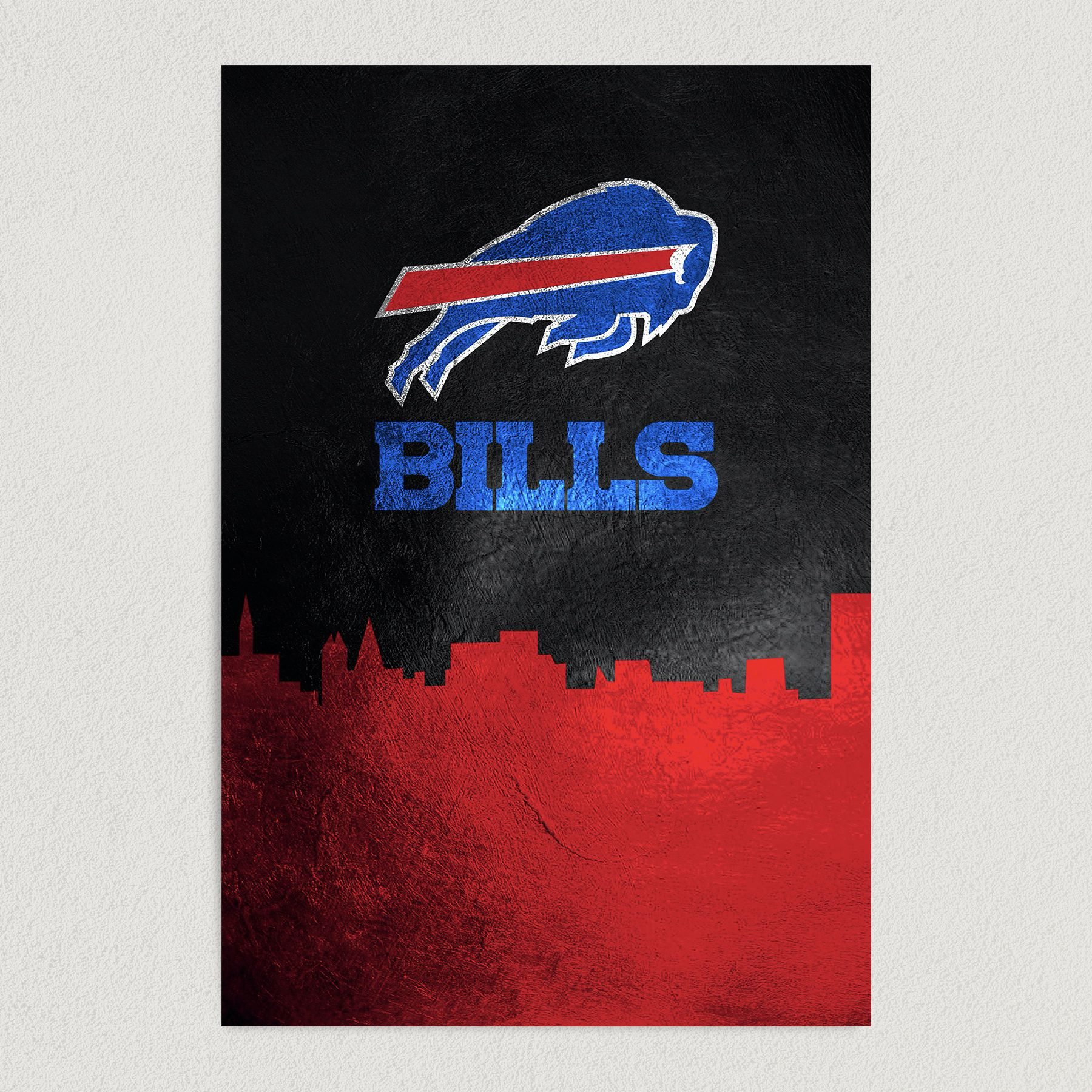 Buffalo Bills Skyline Art Print Poster 12″ x 18″ Wall Art SF3402