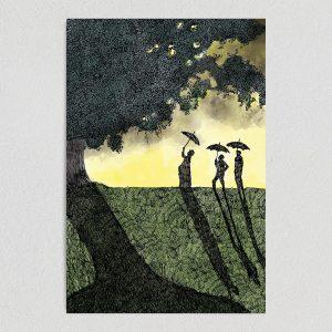 """Shadows Art Print Poster- 12"""" x 18"""" Wall Art IL1030"""