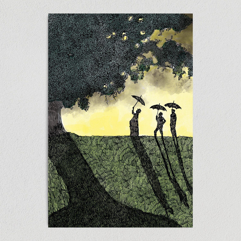 Shadows Art Print Poster- 12″ x 18″ Wall Art IL1030