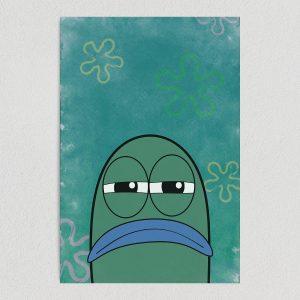 "Spongebob Square Pants Serious Lifeguard Fish Art Print Poster 12"" x 18"" Wall Art TV1010"