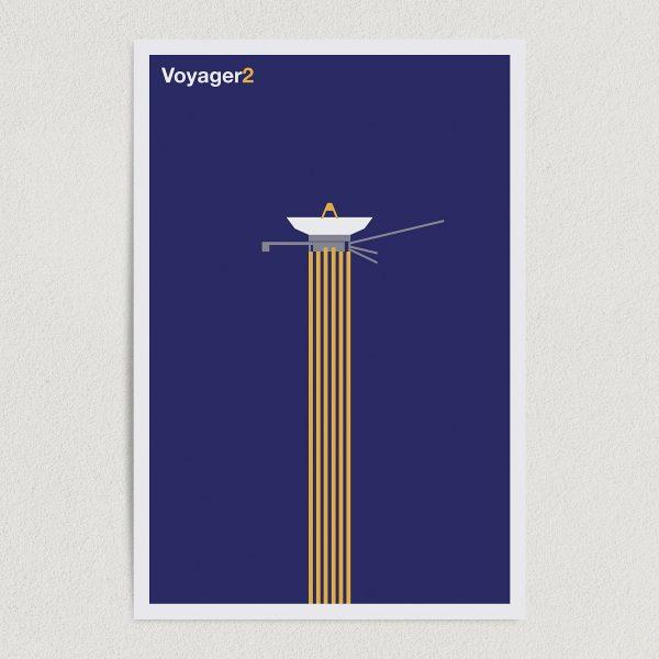 "Voyager2 NASA Space Mission Art Print Poster 12"" x 18"" Wall Art SS2136"