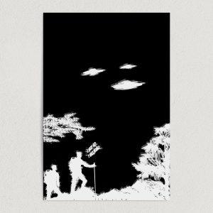 """I Believe UFO Art Print Poster 12"""" x 18"""" Wall Art ST1010"""