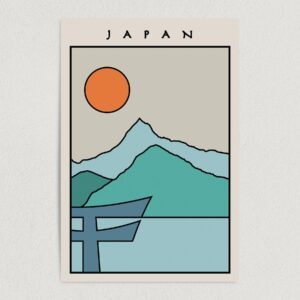 "Japan Minimal Travel Art Print Poster 12"" x 18"" Wall Art T2500"
