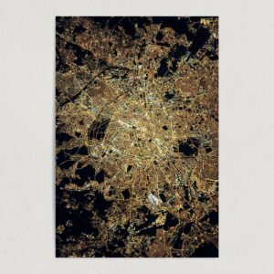 "City of Lights Paris Art Print Poster 12"" x 18"" Wall Art Print Poster TD2711"