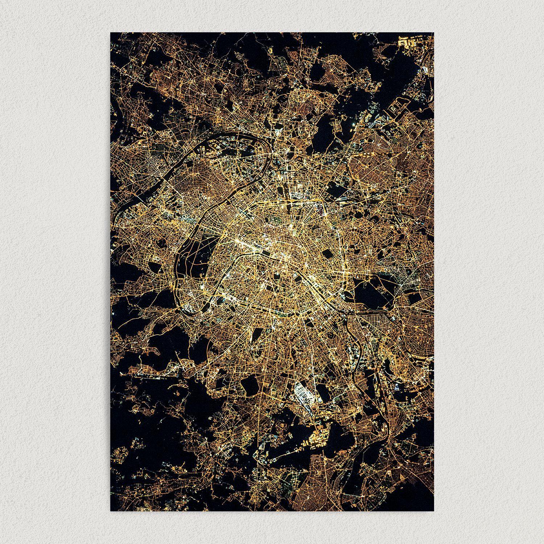 City of Lights Paris Art Print Poster 12″ x 18″ Wall Art Print Poster TD2711