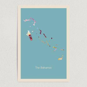 """The Bahamas Fundraiser Art Print Poster 12""""x 18"""" Wall Art DT1009"""