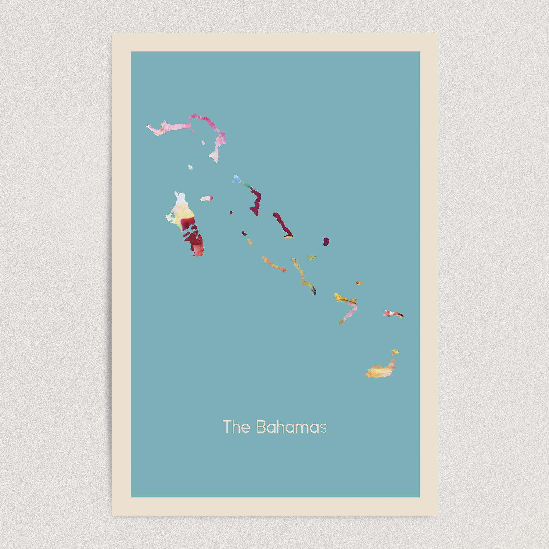 The Bahamas Fundraiser Art Print Poster 12″x 18″ Wall Art DT1009