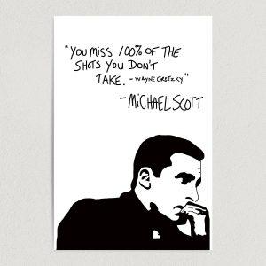 "The Office Michael Scott Success Quote 12"" X 18"" Wall Art TP1401"