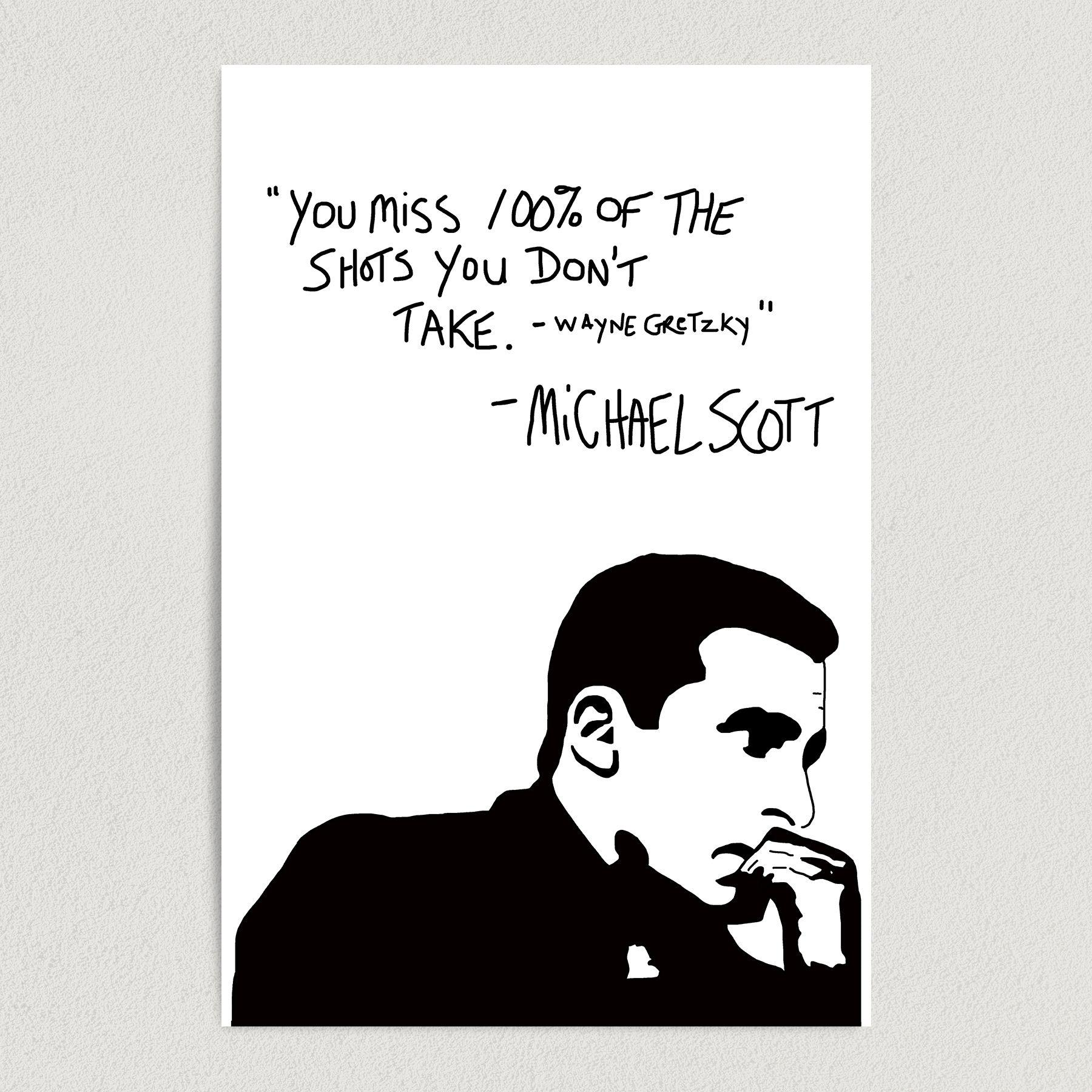 The Office Michael Scott Success Quote 12″ X 18″ Wall Art TP1401